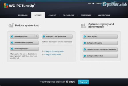 AVG PC Tuneup Screenshot2