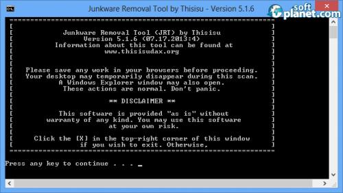 Junkware Removal Tool Screenshot3