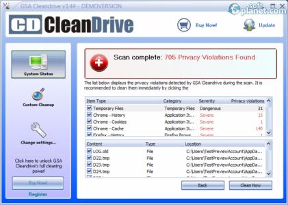 GSA Cleandrive Screenshot5