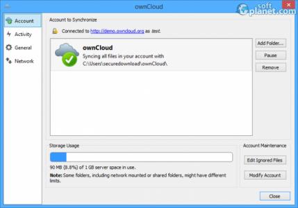 ownCloud Screenshot2