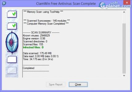 ClamWin Free Antivirus Screenshot2