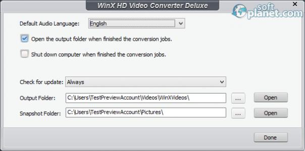 WinX HD Video Converter Deluxe Screenshot3