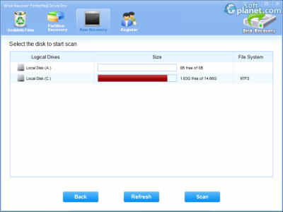 Wise Recover Formatted Drive Screenshot2