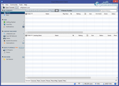 Vuze Bittorrent Client Screenshot2