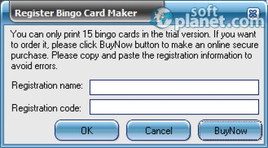 Bingo Card Maker Screenshot3