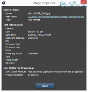 DxO Optics Pro Screenshot4