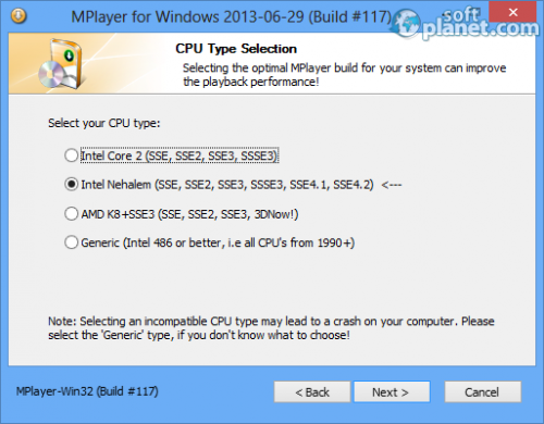 Mplayer for Windows Screenshot3