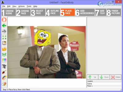 FaceOnBody Screenshot2