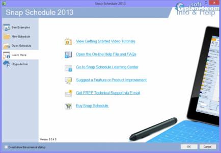 Snap Schedule 2013 Screenshot3