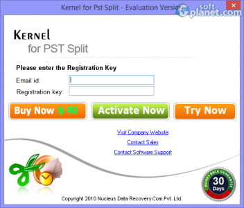Split PST 2013 File Screenshot2