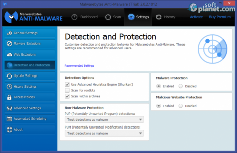 Malwarebytes Anti-Malware Screenshot3