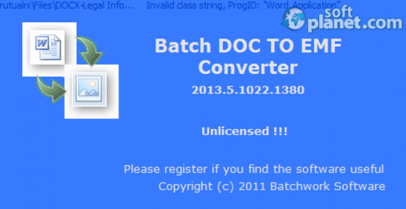 Batch DOC to EMF Converter Screenshot3