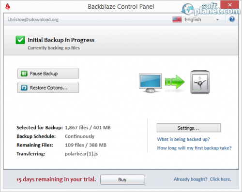 BackBlaze Screenshot2