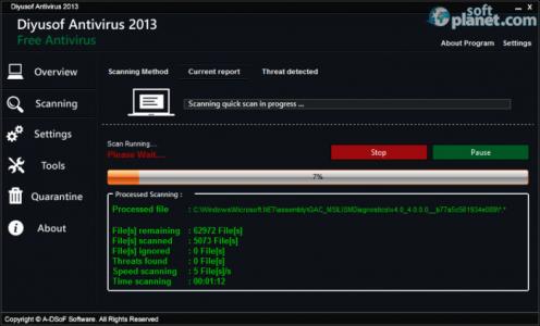 Diyusof Antivirus 2013 Screenshot2
