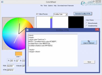 Free Colorwheel Screenshot5