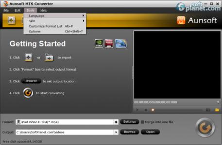 Aunsoft MTS/M2TS Converter Screenshot5