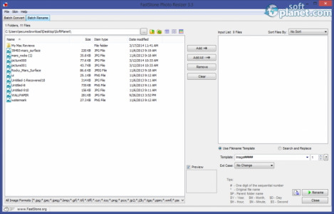 FastStone Photo Resizer Screenshot3