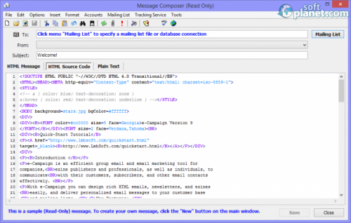 e-Campaign Screenshot4
