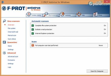 F-PROT Antivirus Screenshot2