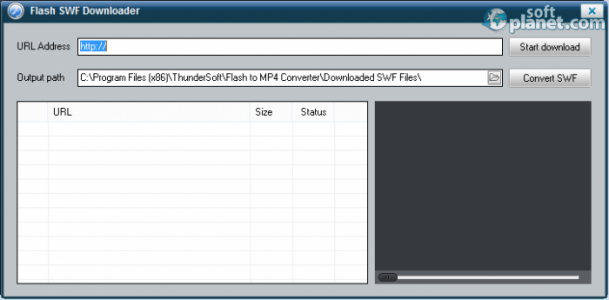 ThunderSoft Flash to MP4 Converter Screenshot2