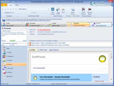 SmartSerialMail Screenshot4