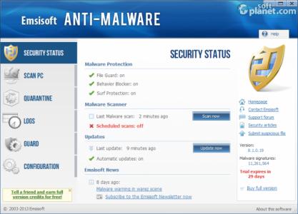Emsisoft Anti-Malware Screenshot2