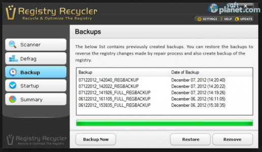 Registry Recycler Screenshot2