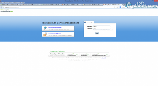 ManageEngine ADSelfService Plus Screenshot2