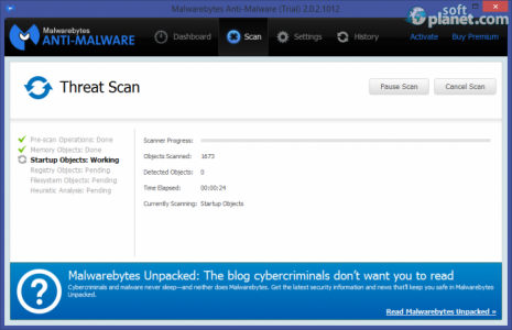 Malwarebytes Anti-Malware Screenshot2