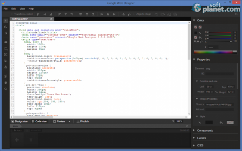 Google Web Designer Screenshot2