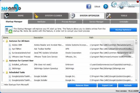 360Amigo System Speedup Free Screenshot3