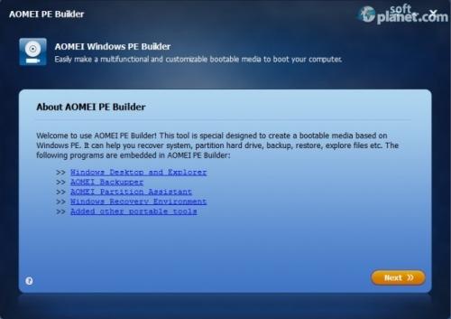 AOMEI PE Builder 1.2
