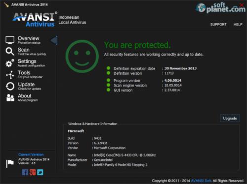 AVANSI Antivirus 2014 4.06.0014