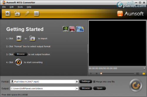 Aunsoft MTS/M2TS Converter 2.3.0.5345