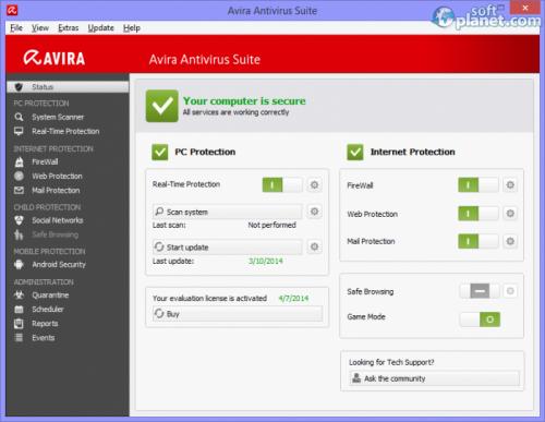 Avira Antivirus Suite 14.0.4.672