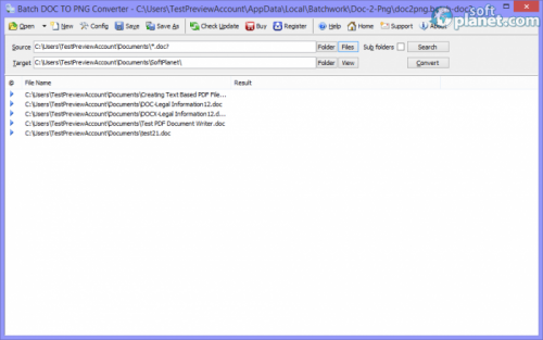Batch DOC to PNG Converter 2013.5.1022.1380