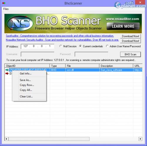 BhoScanner 2.2.1