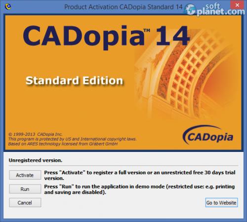 CADopia 14 Standard 2014.2 Build 13