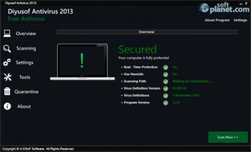 Diyusof Antivirus 2013 3.2.0