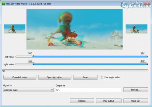 Free 3D Video Maker 1.1.18.301
