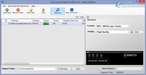 Free Convert WMA To MP3 1.1