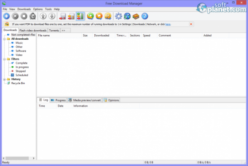 Free Download Manager 3.9.5 build 1530