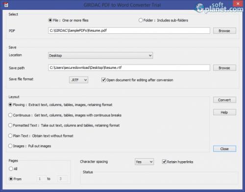 GIRDAC PDF to Word Converter 17.1.2.2