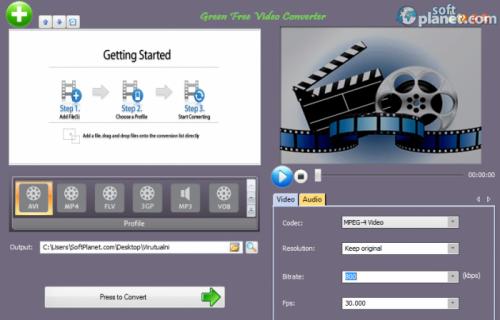 Green Free Video Converter 1.9
