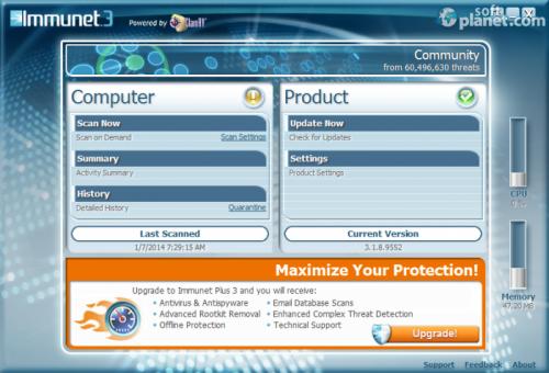 Immunet Free Antivirus 3.1.13.9671