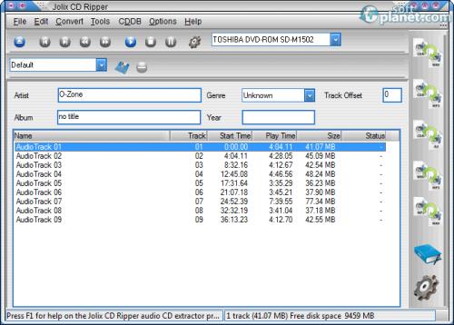 Jolix CD Ripper 1.4.0.0