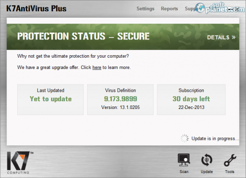 K7 Antivirus Plus 13.1.0.205