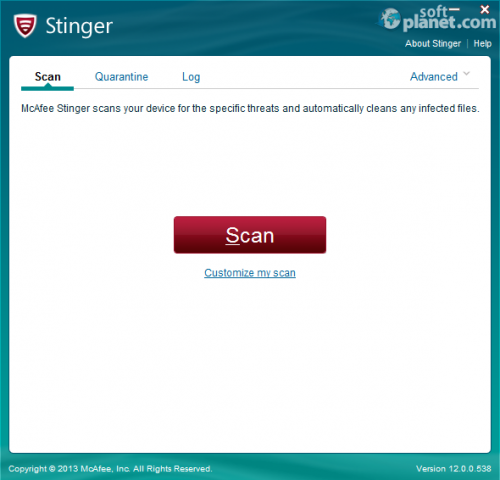 McAfee Stinger 12.1.0.1374