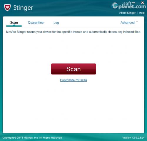 McAfee Stinger Portable 12.1.0.954