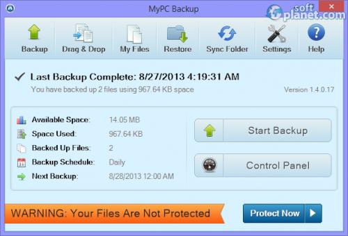 MyPC Backup 1.4.0.17